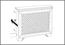 Montér en radiatorskjuler