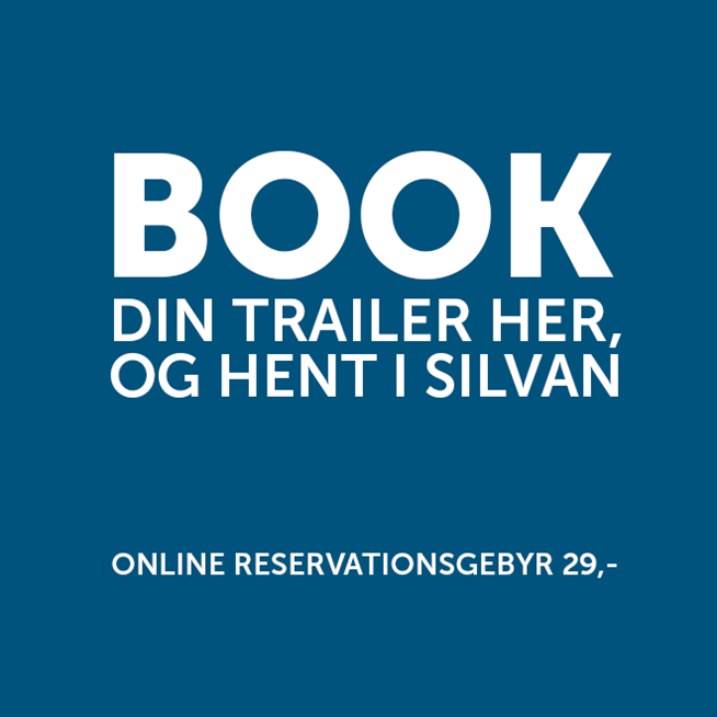 Pæn Lån en trailer hos SILVAN TU68
